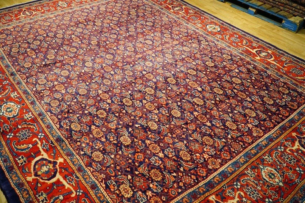 9x12 Authentic Hand Knotted Semi-Antique Persian Tabriz Rug - Iran - bestrugplace