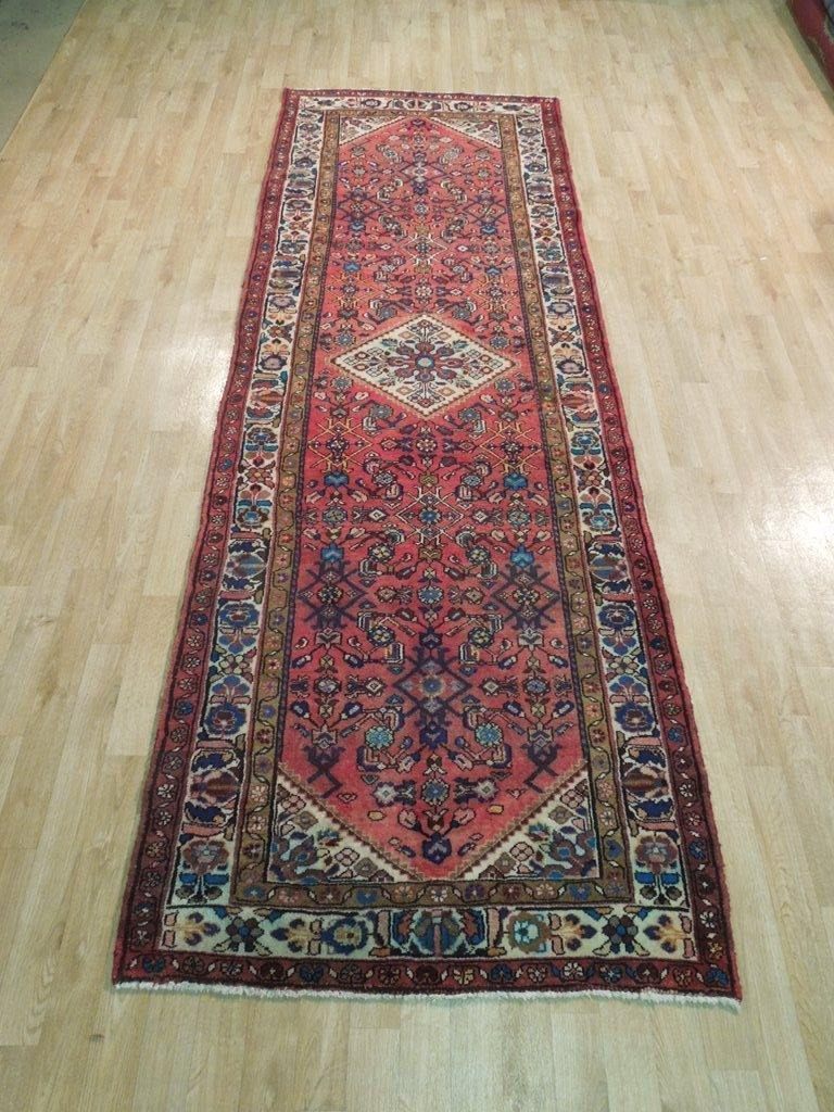 4x10 Authentic Hand Knotted Persian Tabriz Herati Runner - Iran - bestrugplace