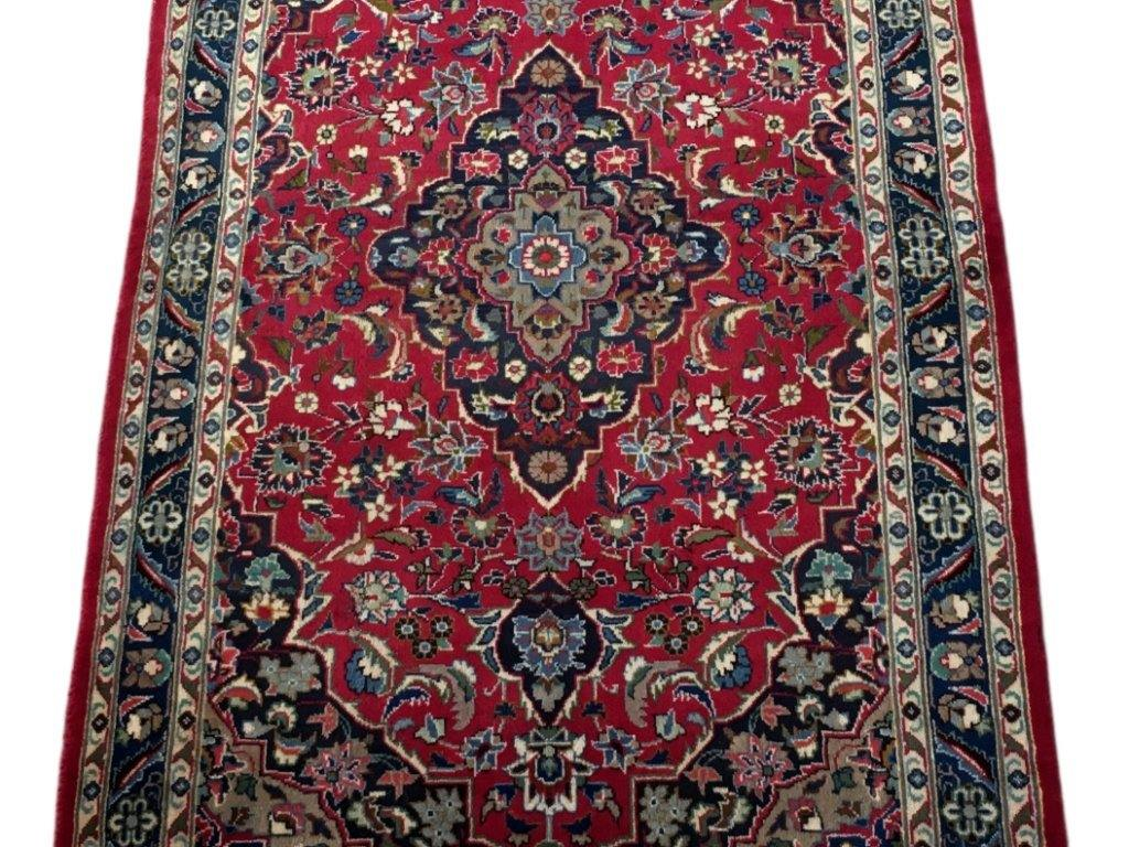 3x6 Authentic Hand-knotted Persian Kashmar Rug - Iran