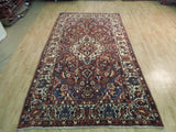 6x10 Authentic Hand Knotted Semi-Antique Persian Bakhtiari Rug - Iran