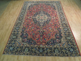 7x10 Authentic Hand Knotted Semi-Antique Persian Tabriz Rug - Traditional