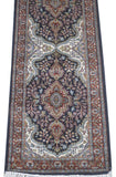 Harooni Rugs - Dazzling 2x6 Authentic Hand Knotted Jammu Kashmir Silk Rug - India