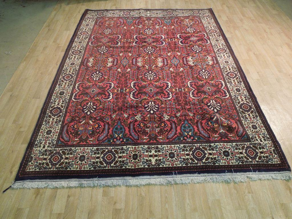 7x10 Authentic Hand Knotted Fine Persian Tabriz Rug - Iran