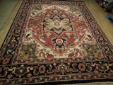 Harooni Rugs - Dazzling 9x12 Authentic Hand Knotted Traditional Heriz Rug - India