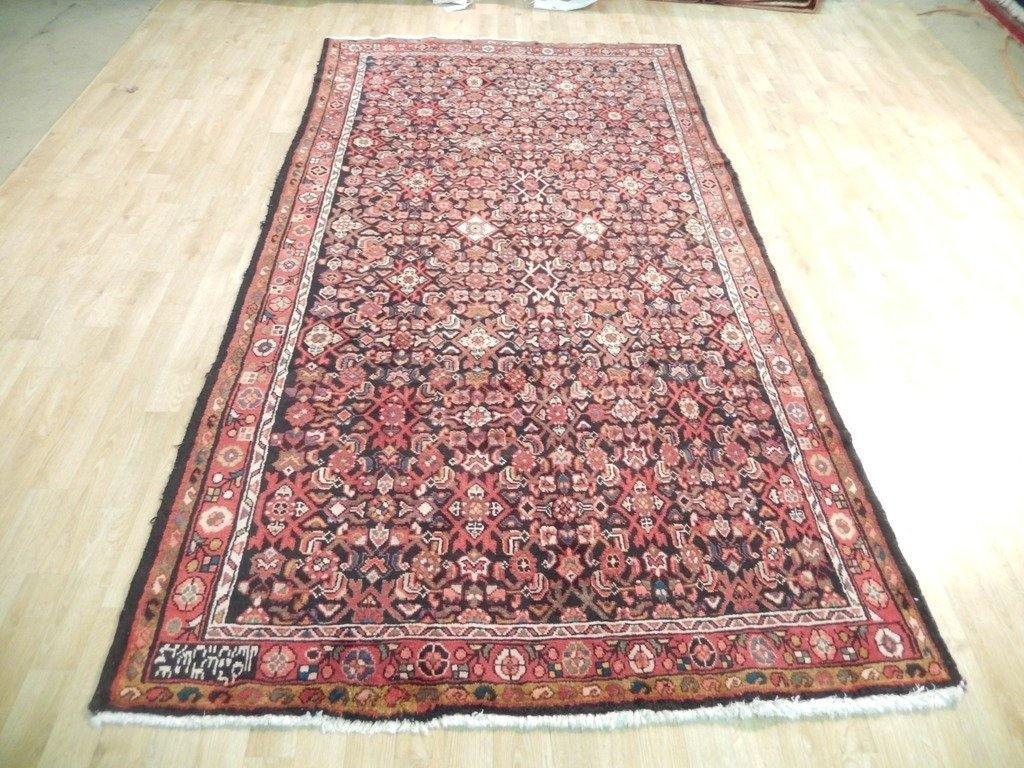 5x10 Authentic Hand Knotted Semi-Antique Persian Herati Runner - Iran