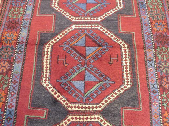 Stunning 4x7 Authentic Handmade Russian Kazak Rug