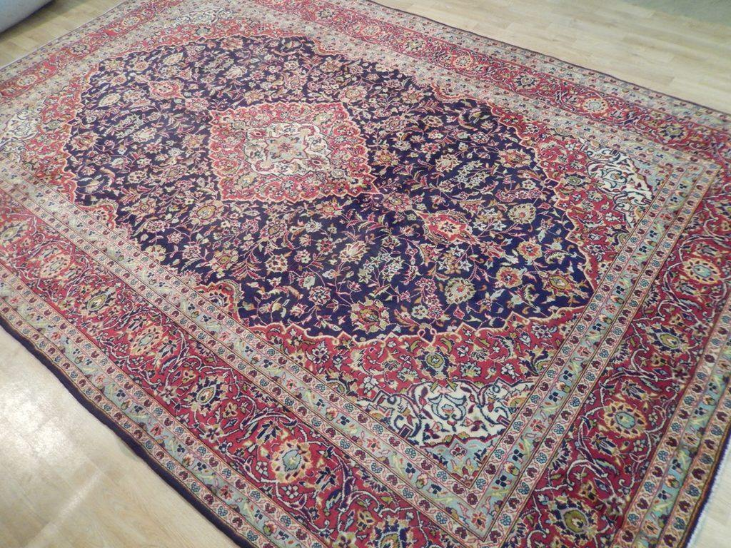 8x12 Authentic Handmade Semi-Antique Persian Kashan Rug - Iran