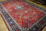 9x13 Authentic Hand Knotted Fine Quality Persian Isfahan Rug - Iran