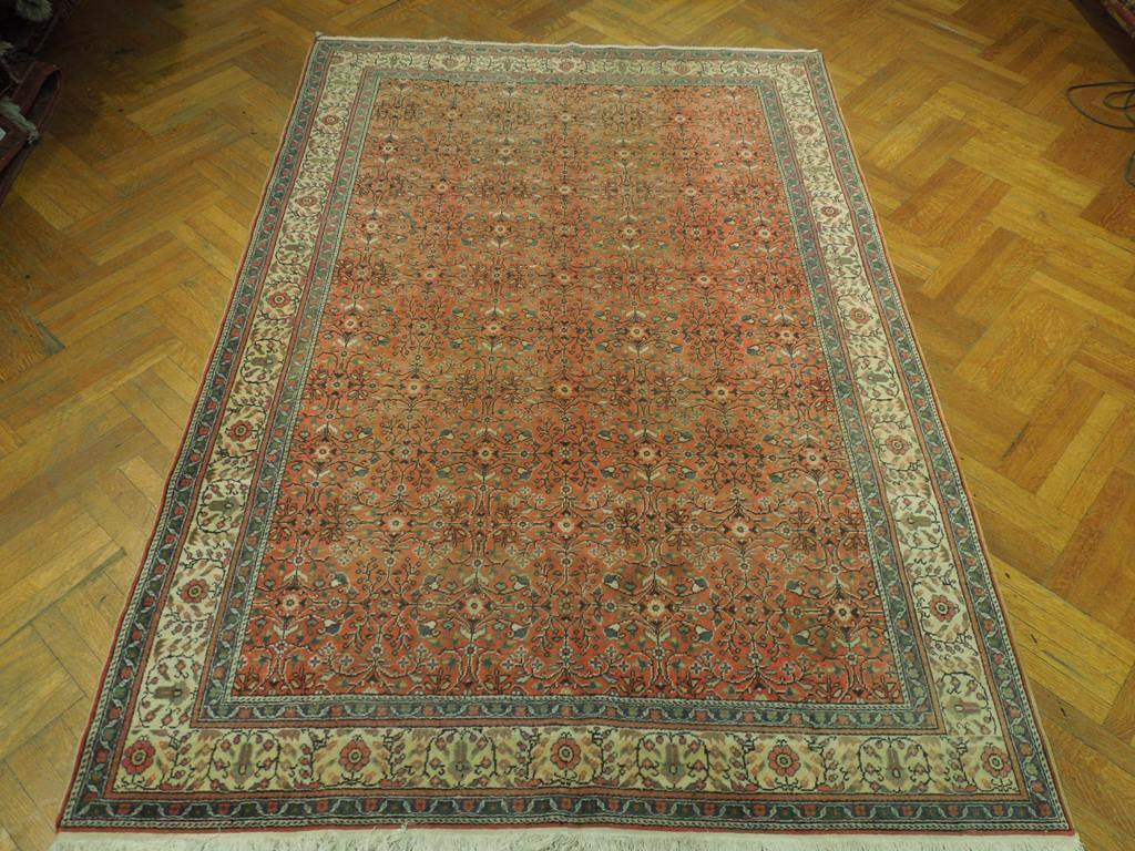 7x9 Authentic Hand Knotted Antique Persian Tabriz Rug - Iran - bestrugplace