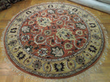 Harooni Rugs - Dazzling 8x8 Authentic Handmade Serapi Round Rug - India