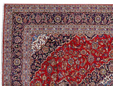 8x11 Authentic Hand Knotted Persian Kashan Rug - Iran