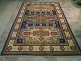Harooni Rugs - Dazzling 7x10 Authentic Hand Knotted Kazak Rug - India