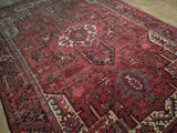 8x12 Authentic Hand Knotted Semi-Antique Persian Heriz Rug - Iran