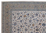 9x13 Authentic Hand Knotted Persian Kashan Rug - Iran
