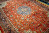 10x13 Authentic Hand Knotted Fine Quality Persian Sarouk Rug - Iran