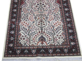 Harooni Rugs - Dazzling 4x7 Authentic Hand Knotted Jammu Kashmir Silk Rug - India
