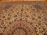 9x15 Authentic Handmade Signed Persian Kashan Rug-Iran