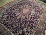 Fascinating 10x14 Authentic Hand Knotted Persian Semi-Antique Esfahan Rug - Iran