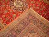 Harooni Rugs - Vintage 10x14 Authentic Hand Knotted Persian Kashan Rug - Iran