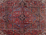 Harooni Rugs - Premium 11x14 Authentic Hand Knotted Persian Heriz Rug - Iran