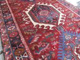 3x18 Authentic Hand-knotted Persian Karaja Rug - Iran