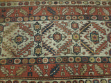4x10 Authentic Hand Knotted Antique Russian Kazak Rug - Russia