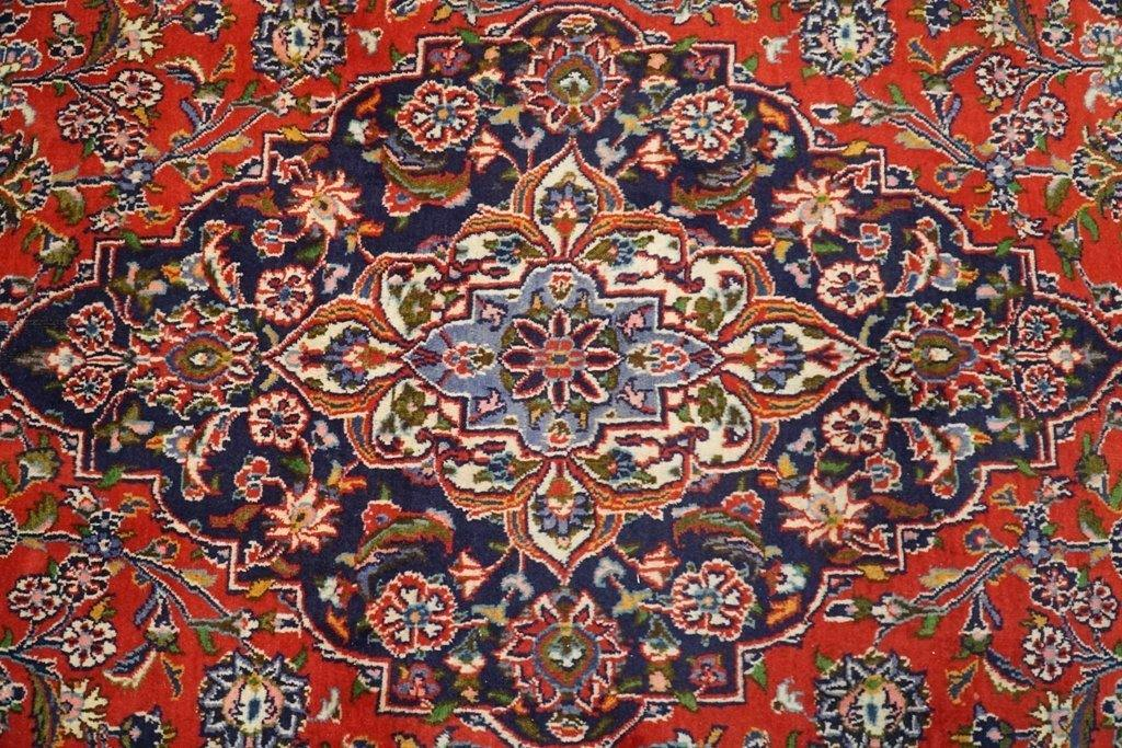 10x13 Authentic Hand Knotted Semi-Antique Persian Kashan Rug - Iran - bestrugplace