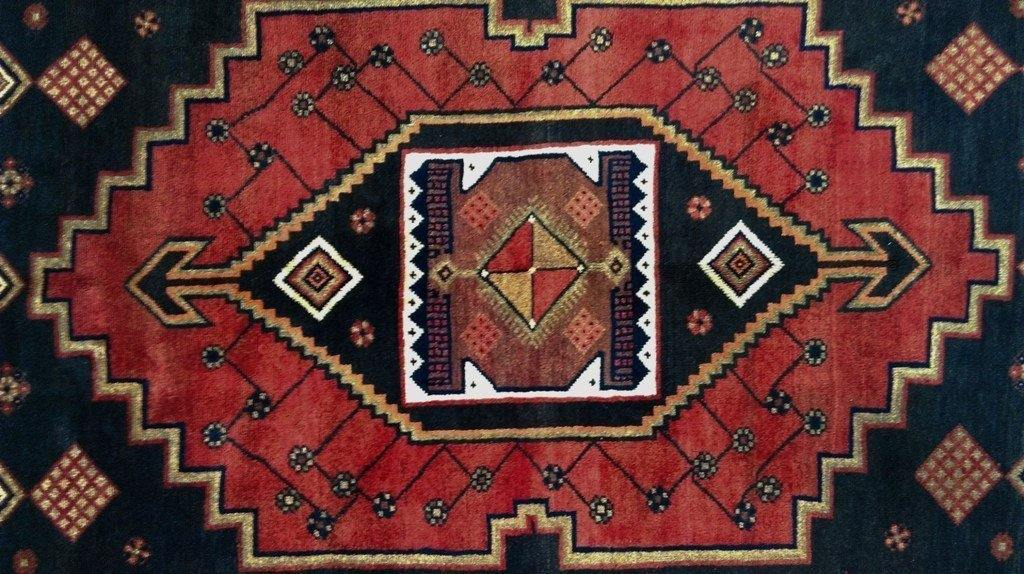 4x9 Authentic Hand Knotted Persian Hamadan Rug - Iran