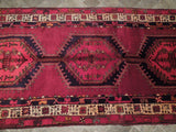 Harooni Rugs - Authentic Hand-Knotted 4x10 Semi Antique EB Hamadan Runner - Traditional