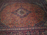 10x12 Authentic Hand Knotted Semi-Antique Persian Kashan Rug - Iran