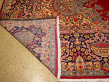 Harooni Rugs - Vintage 10x14 Authentic Hand-knotted Semi-Antique Persian Kashan Rug - Iran