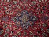 Harooni Rugs - Premium 9x13 Authentic Hand Knotted Semi-Antique Persian Isfahan Rug - Iran