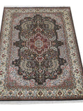 Harooni Rugs - Dazzling 4x6 Authentic Hand Knotted Jammu Kashmir Silk Rug - India