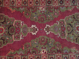 4x10 Authentic Hand-Knotted Semi-Antique Persian Heriz Runner - Iran