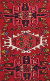 2x6 Authentic Hand Knotted Persian Karaja Rug - Iran