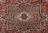 11x14 Authentic Hand Knotted Persian Heriz Rug - Iran