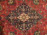 Harooni Rugs - Premium 10x13 Authentic Hand Knotted Semi-Antique Persian Kashan Rug - Iran