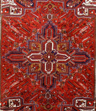 Harooni Rugs - Premium 9x11 Authentic Hand Knotted Persian Heriz Rug - Iran