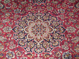 Harooni Rugs - Premium 9x12 Authentic Hand Knotted Semi-Antique Persian Esfahan Rug - Iran