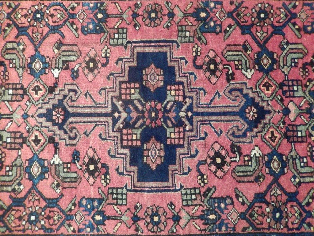 4' x 10'  Semi-Antique Persian Hamadan Runner Iran