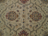 Dazzling 8x10 Authentic Hand Knotted Vegetable Dyed Chobi Rug - India