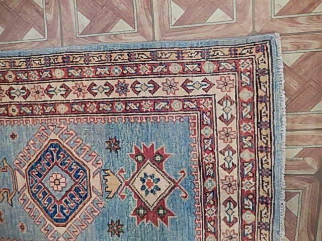Radiant 3x10 Authentic Hand Knotted Kazak Rug - Pakistan