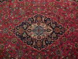 8x12 Authentic Hand Knotted Semi-Antique Persian Kashan Rug - Iran