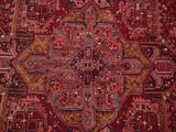 8x11 Authentic Hand Knotted Semi-Antique Persian Heriz Rug - Iran