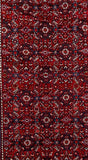 4x17 Authentic Hand Knotted Persian Hamadan Rug - Iran