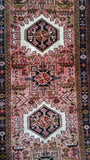 2x9 Authentic Hand Knotted Persian Karaja Rug - Iran