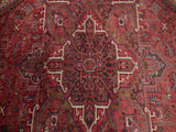 10x13 Authentic Hand Knotted Semi-Antique Persian Heriz Rug - Iran