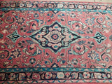 4x11 Authentic Hand Knotted Semi-Antique Persian Kashan Runner - Iran