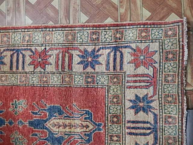 Radiant 3x14 Authentic Hand Knotted Kazak Rug - Pakistan