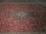 Harooni Rugs - Premium 10x14 Authentic Hand Knotted Semi-Antique Persian Kashan Rug - Iran